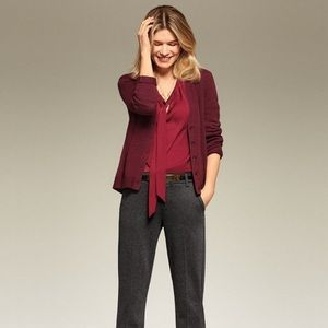 CAbi 3529 Catch Cardigan, maroon, XS